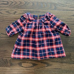BabyGap Girls Dress Red Blue Plaid with Bloomers